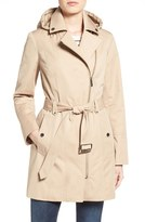 MICHAEL Michael Kors Women's Asymmetrical Zip Front Hooded Trench Coat