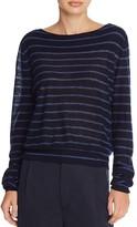 Vince Boat Neck Stripe Cashmere Sweater