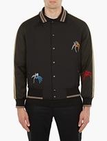 Lanvin Black Tarantula Embellished Bomber Jacket