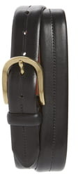 Bosca Dolce Center Stitch Leather Belt