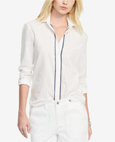 Lauren Ralph Lauren Contrast-Trim Shirt
