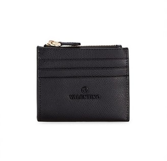 Valentino By Mario Valentino Gia Top-Zip Leather Card Case