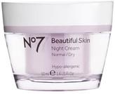 No7 Beautiful Skin Night Cream Normal/Dry 1.6 oz