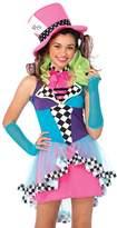 Leg Avenue Junior's 3 Piece Mayhem Hatter Costume, color