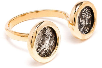 Dubini 18k Kings of Persis 2-Coin Ring, Size 6.5
