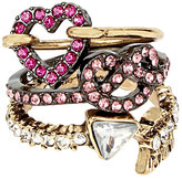 Betsey Johnson Hearts And Arrows Ring Set