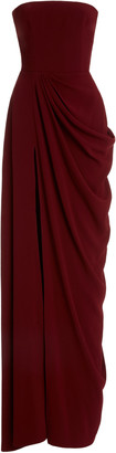 Alex Perry Exclusive Draped Crepe Strapless Gown