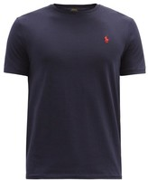 Polo Ralph Lauren Logo-embroidered Cotton-jersey T-shirt - Mens - Navy