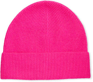 Neiman Marcus Ribbed Cashmere Beanie Hat