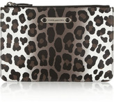 Marc Jacobs Leopard-print leather pouch