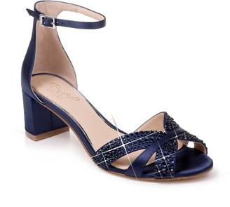 Badgley Mischka Sequoia Crystal Embellished Ankle Strap Sandal