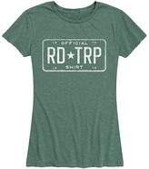 Instant Message Women's Women's Tee Shirts HEATHER - Heather Juniper 'Official Road Trip' Relaxed-Fit Tee - Women