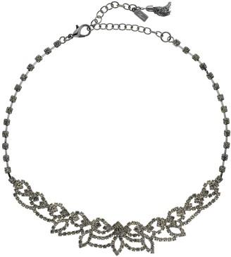 "Vera Wang Simply Vera Hematite Tone 13"" Simulated Crystal Lace Choker Necklace"