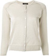 Roberto Collina fitted round neck cardigan - women - Polyester/Viscose - L