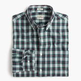 J.Crew Secret Wash shirt in multicolor tartan