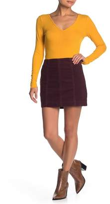 Love, Fire Corduroy Mini Skirt