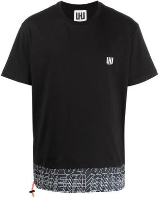 Les Hommes Urban layered crew neck T-shirt
