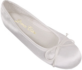 Dance Class White Dyeable Satin Ballet Flat - Adult