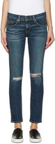 Rag & Bone Blue Ripped Tomboy Jeans