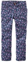 Osh Kosh Toddler Girl Floral Skinny Twill Pants