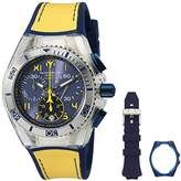 Technomarine unisex Quartz Watch with Blue Dial Chronograph Display and Blue Silicone Strap TM-115015