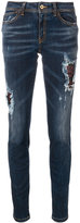 Just Cavalli skinny distressed jeans