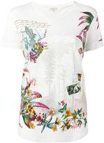 Etro travel print T-shirt - women - Cotton - 44
