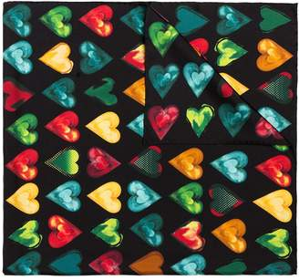 Versace heart print scarf