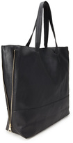 Forever 21 FOREVER 21+ Zippered Faux Leather Tote