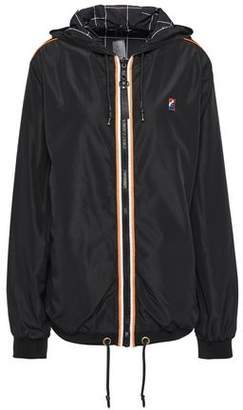 P.E Nation Reversible Grosgrain-trimmed Striped Shell Hooded Jacket