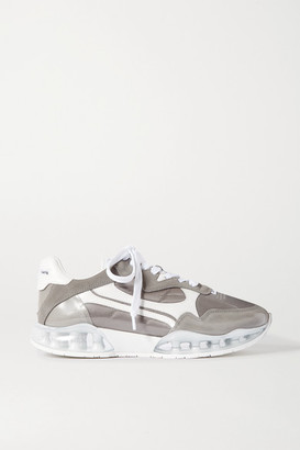 Alexander Wang Stadium Pvc, Leather, Suede And Canvas Sneakers - Gray