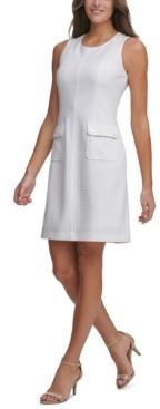Tommy Hilfiger Textured-Knit Pocket Sheath Dress