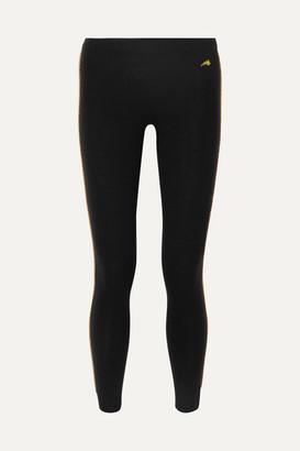 Bella Freud Billie Jean Striped Wool-blend Leggings - Black
