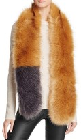 Aqua Faux Fur Stole Scarf- 100% Bloomingdale's Exclusive