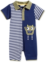 First Impressions Monster Striped Polo Romper, Baby Boys (0-24 months), Created for Macy's
