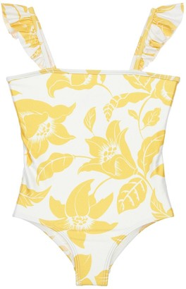 Zimmermann Flower Print Lycra One Piece Swimsuit