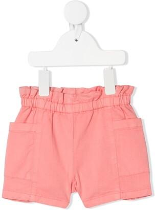 Bonpoint Nougat ruffled waistband shorts