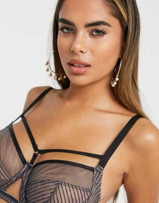 Curvy Kate Victory Pin Up strapping detail sheer mesh non padded bra