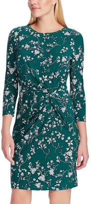 Chaps Women's Elbow Sleeve Floral Sheath Dress