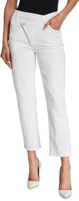 Asymmetric Straight-Leg Jeans