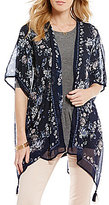 Jolt Floral Printed Tassel Kimono
