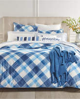 Charter Club Damask Designs Painted Plaid 3-Pc. King Duvet Cover Set, Created for Macy's