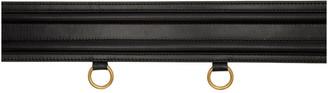 Alexander McQueen Black Leather Double-Buckle Belt