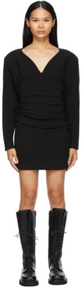Magda Butrym Black Wool Long Sleeve Short Dress