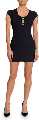 Balmain Diamond Knit Short-Sleeve Dress