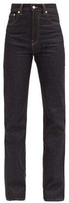 Jacquemus Nimes High-rise Straight-leg Jeans - Dark Denim
