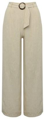 M&Co Petite wide leg linen trousers