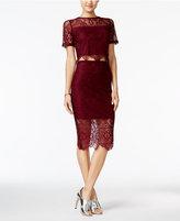 Trixxi Juniors' 2-Pc. Scalloped Lace Bodycon Dress