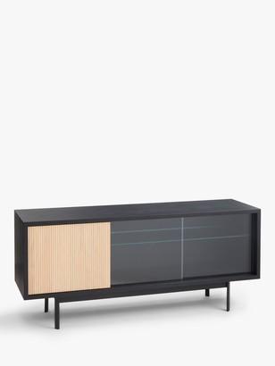 John Lewis & Partners Fluted Glass Sideboard, Black