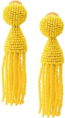 Oscar de la Renta beads drape earrings